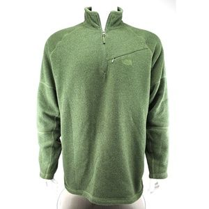 The North Face Green Quarter Zip Pullover Sweater